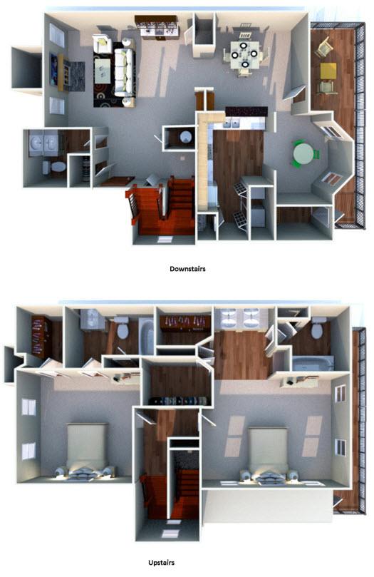 1,637 sq. ft. J floor plan