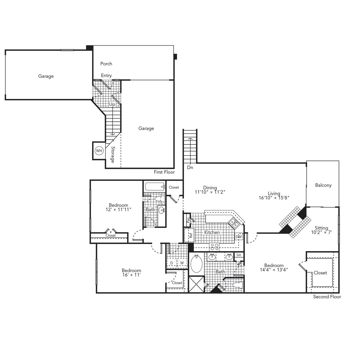 1,801 sq. ft. Blue floor plan