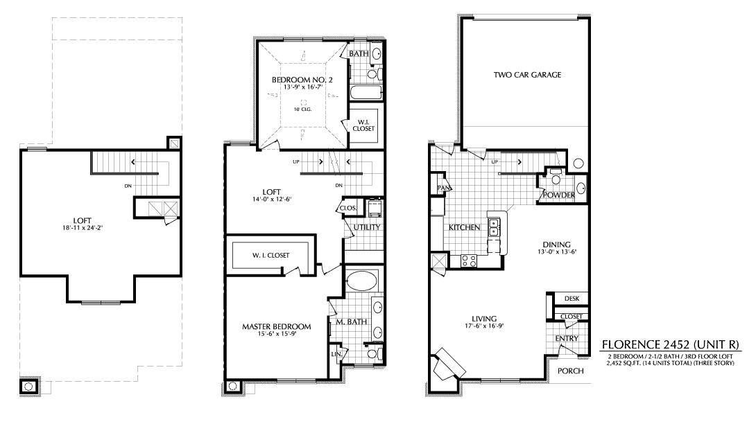 2,452 sq. ft. R floor plan