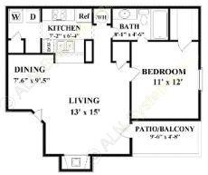 706 sq. ft. floor plan