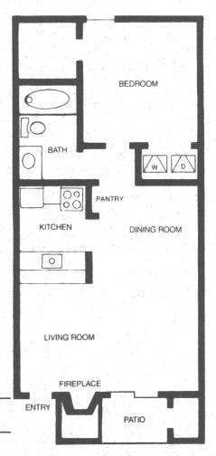 578 sq. ft. NAVAJO floor plan