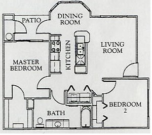 788 sq. ft. 60% floor plan