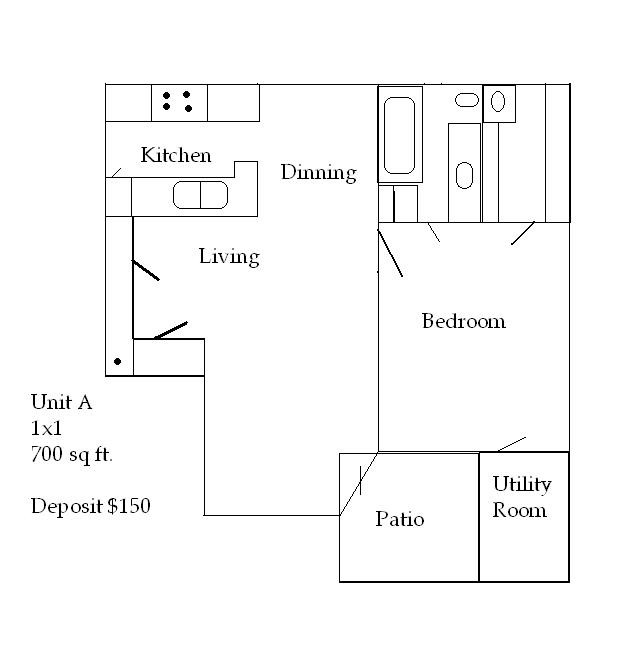 700 sq. ft. 50 floor plan