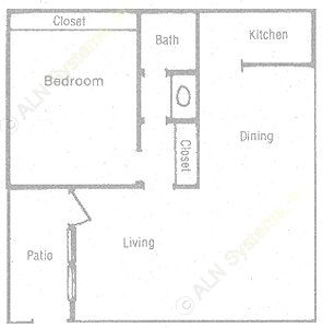 778 sq. ft. floor plan