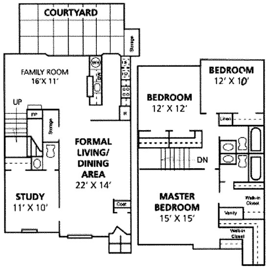 1,800 sq. ft. Palacio floor plan