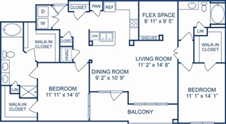 1,445 sq. ft. Venice floor plan