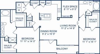 1,445 sq. ft. Venice floor plan