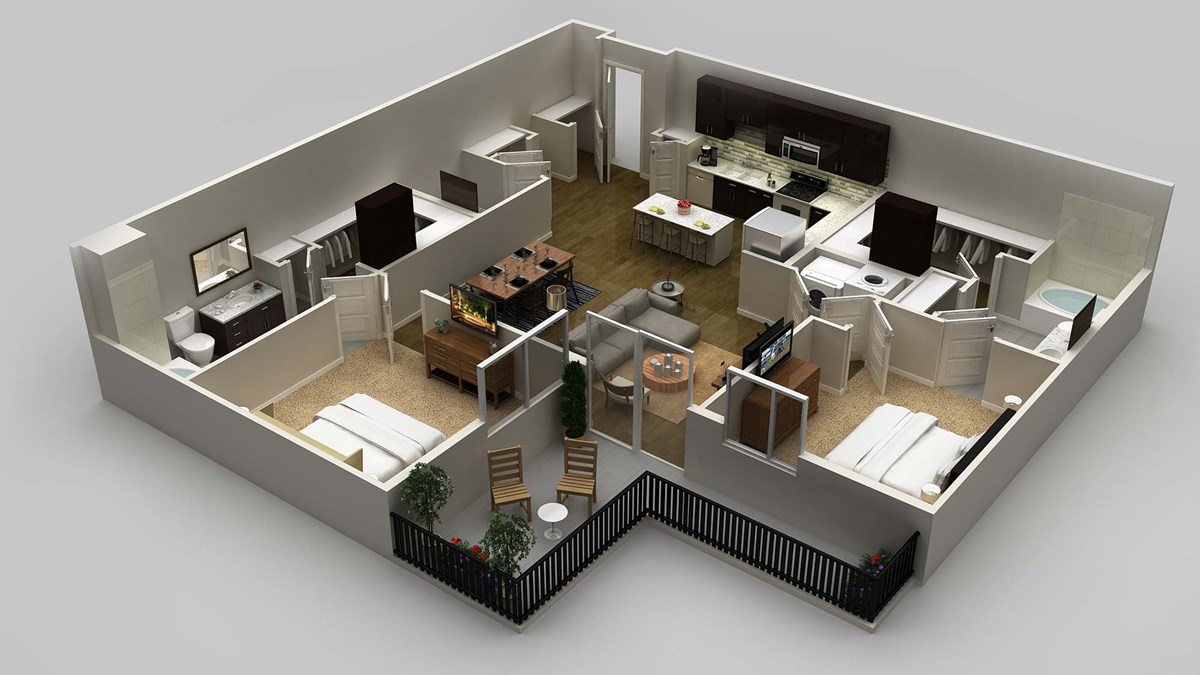 1,321 sq. ft. floor plan