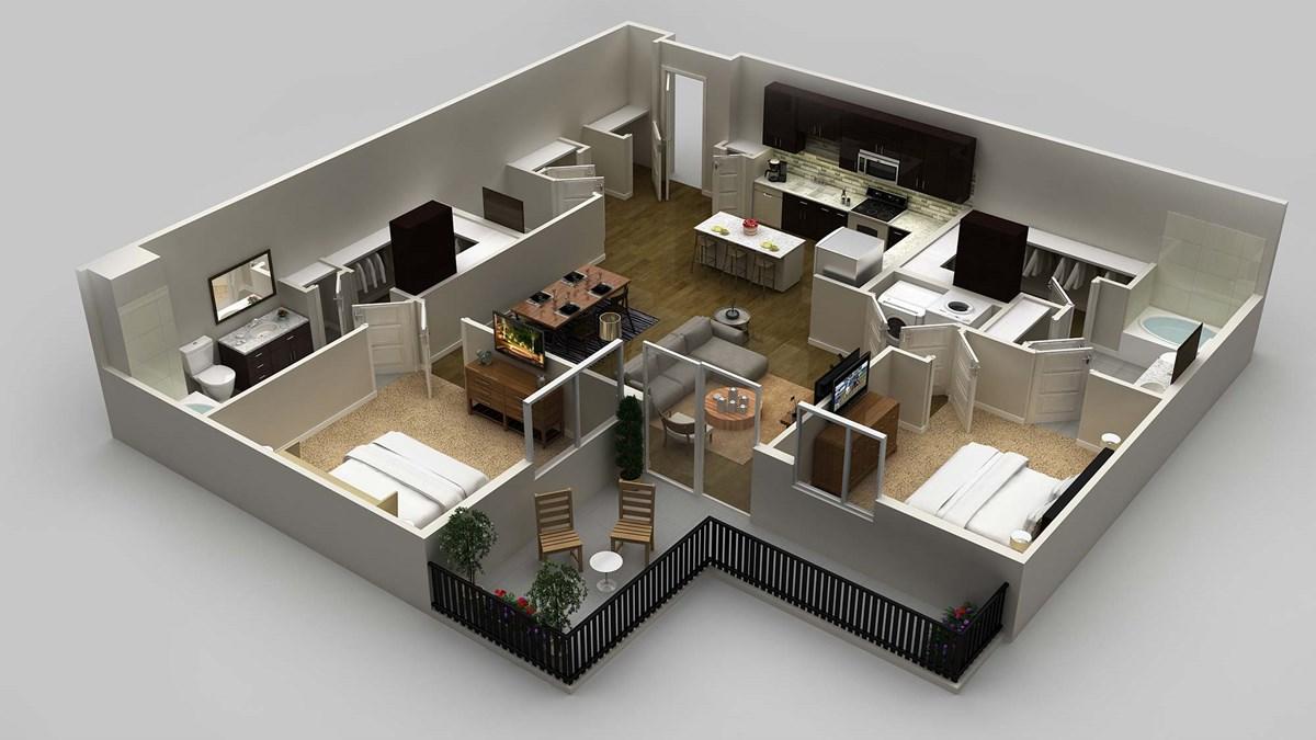 1,321 sq. ft. floor plan