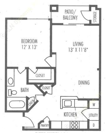 818 sq. ft. A4 floor plan
