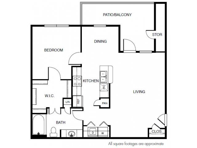 823 sq. ft. floor plan