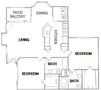 1,162 sq. ft. F floor plan