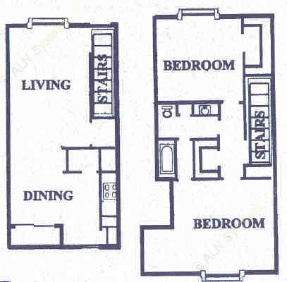 1,086 sq. ft. floor plan
