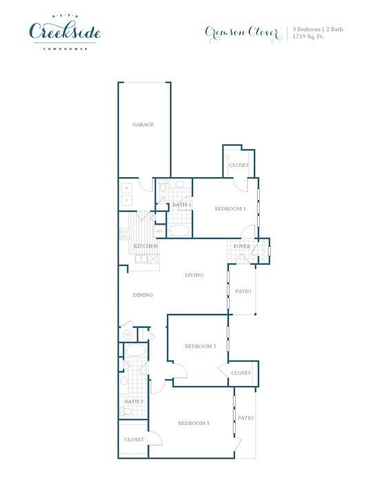 1,719 sq. ft. Crimson Clover floor plan