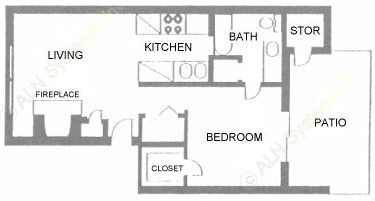 582 sq. ft. floor plan