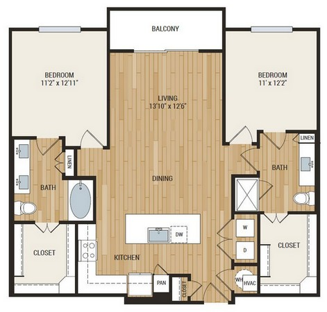 1,237 sq. ft. McDonald floor plan