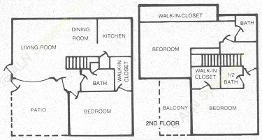 1,340 sq. ft. 60 floor plan