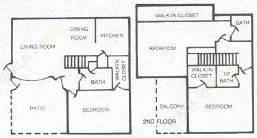 1,340 sq. ft. 60 floor plan