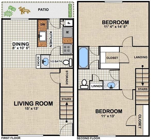1,086 sq. ft. floor plan