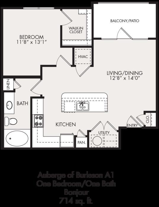 714 sq. ft. floor plan