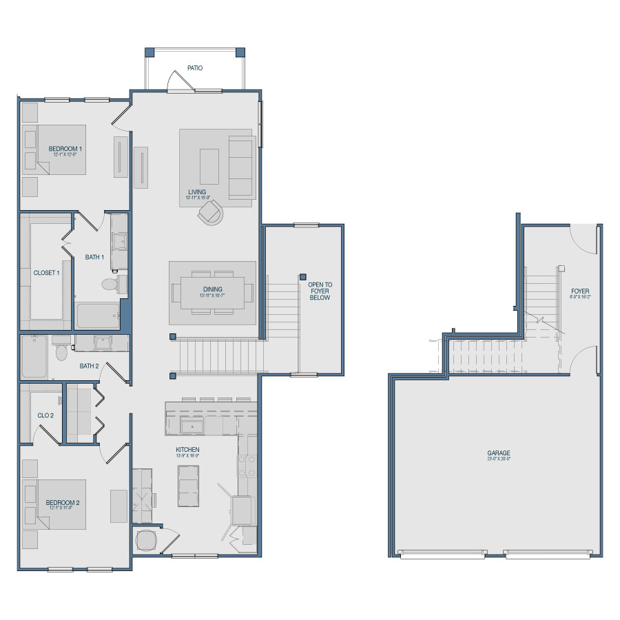 1,545 sq. ft. B10 floor plan
