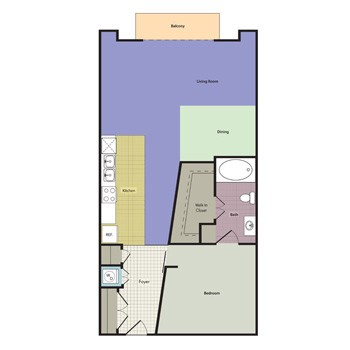 783 sq. ft. Windsor floor plan