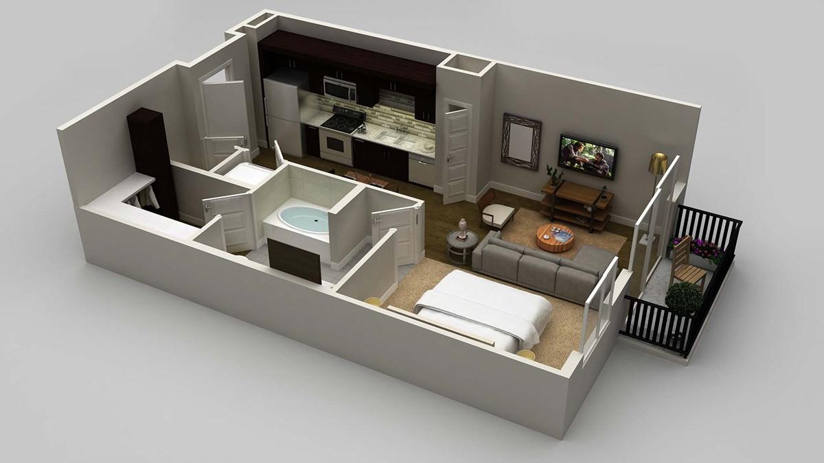 582 sq. ft. floor plan