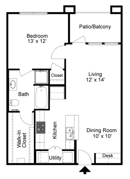 741 sq. ft. to 791 sq. ft. 60% floor plan