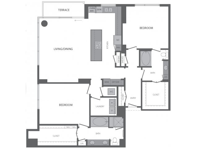 1,818 sq. ft. O floor plan