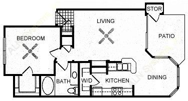 759 sq. ft. SHADY FALLS floor plan