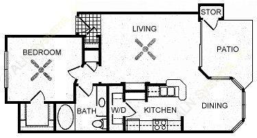759 sq. ft. SHADY FALLS floor plan
