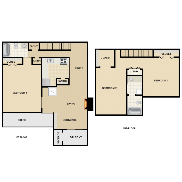 1,417 sq. ft. C1 floor plan