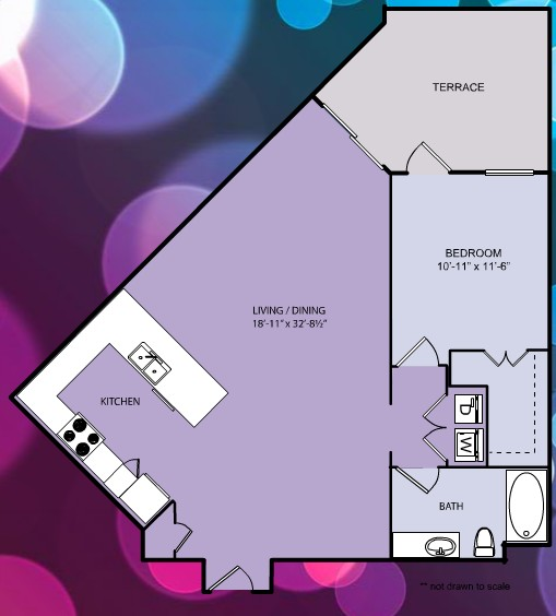 926 sq. ft. A14 floor plan