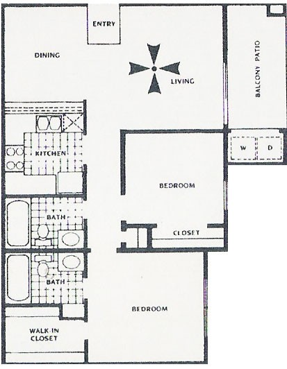 804 sq. ft. C floor plan