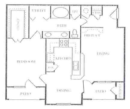 817 sq. ft. A4/A5 floor plan