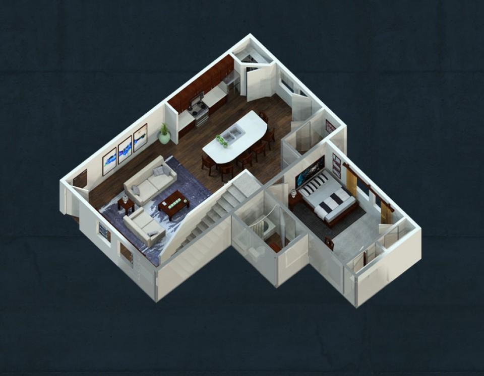 2,200 sq. ft. floor plan