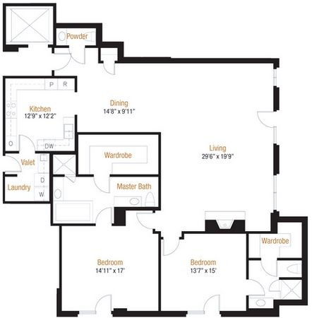 2,093 sq. ft. 8 floor plan