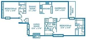 1,452 sq. ft. Fairway floor plan