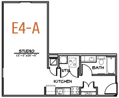 563 sq. ft. floor plan
