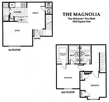 1,035 sq. ft. 60 floor plan