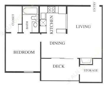 652 sq. ft. A2-Base floor plan