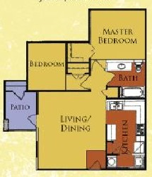 921 sq. ft. 60%/Charleston floor plan