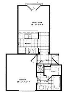 503 sq. ft. floor plan