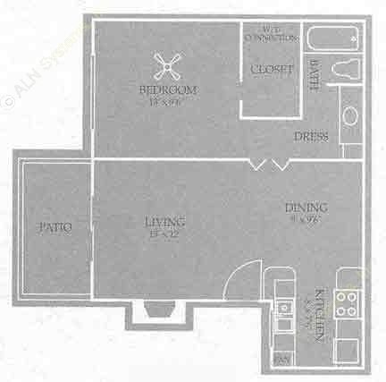 656 sq. ft. Savannah floor plan
