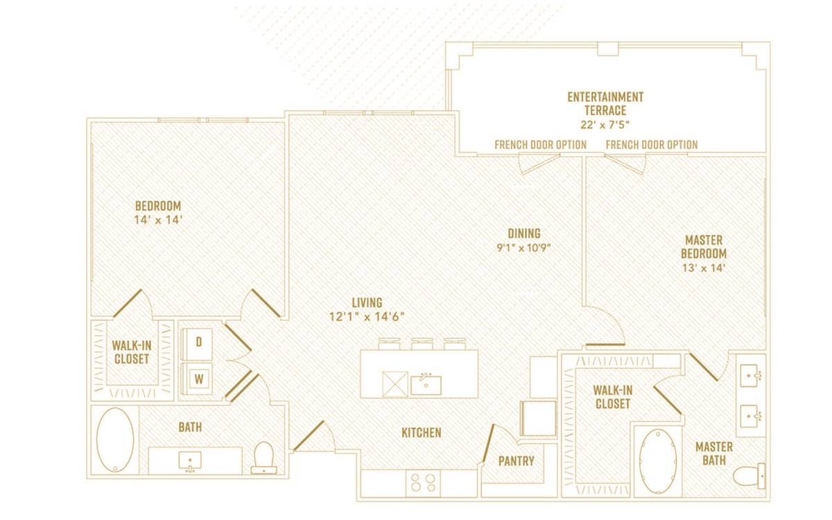 1,287 sq. ft. Sunlight floor plan