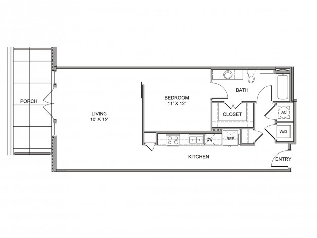 856 sq. ft. Cadiz floor plan