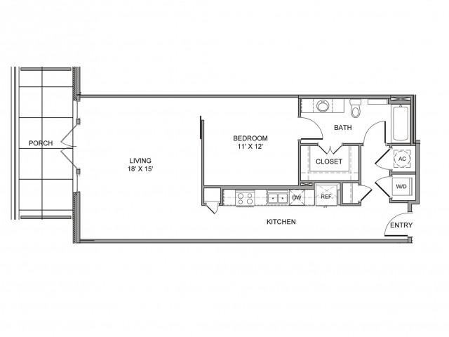 856 sq. ft. Cadiz floor plan