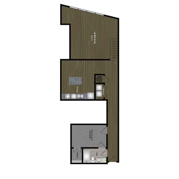 1,193 sq. ft. Deep Eddy floor plan