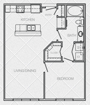 746 sq. ft. to 886 sq. ft. A4 floor plan