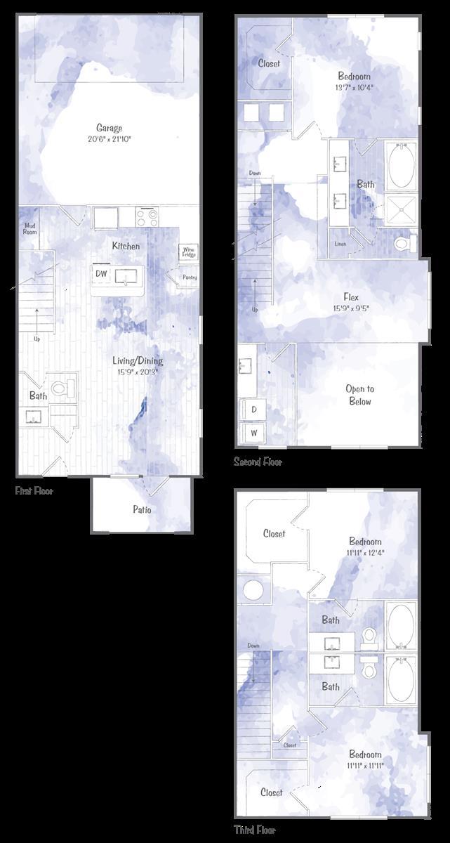 2,031 sq. ft. TH3 floor plan